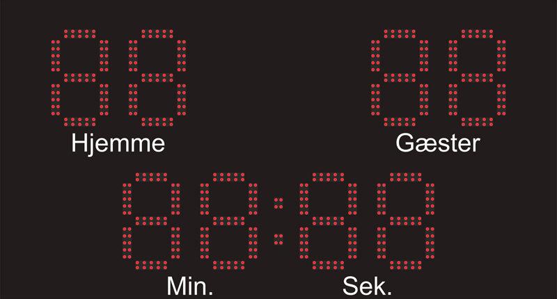 MaxiOne99MS scoringstavle til fodboldstadion