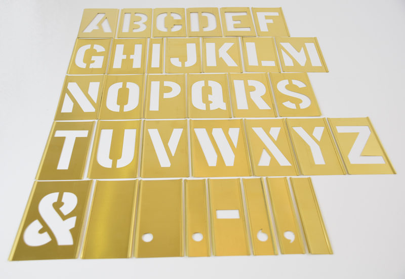 Male skabeloner stencils bogstaver