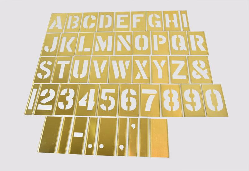 Male skabeloner stencils tal bogstaver