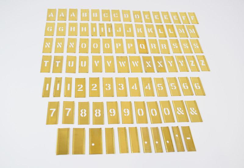 Stencils male skabeloner tal bogstaver 92 stk