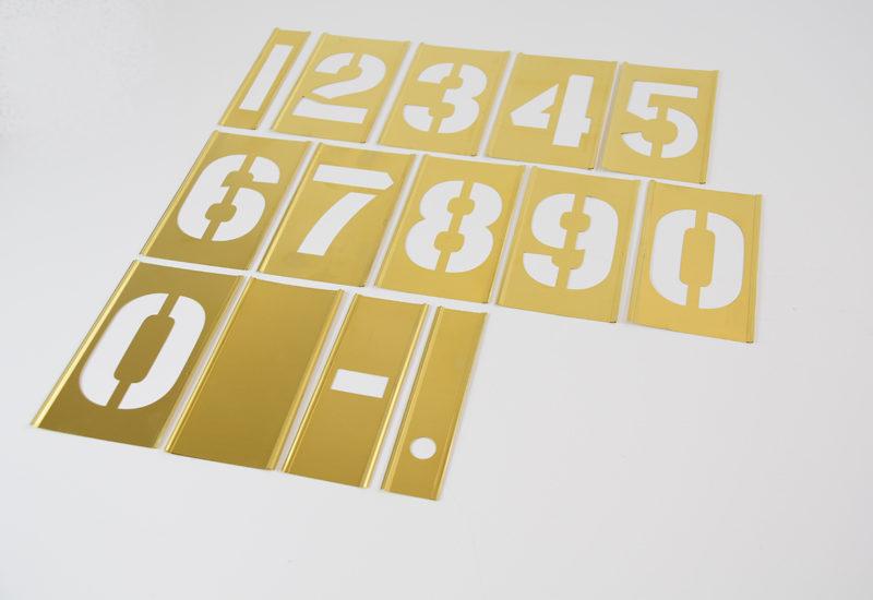 Male skabeloner stencils tal
