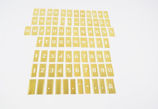 Stencils male skabeloner bogstaver tal 77 stk.