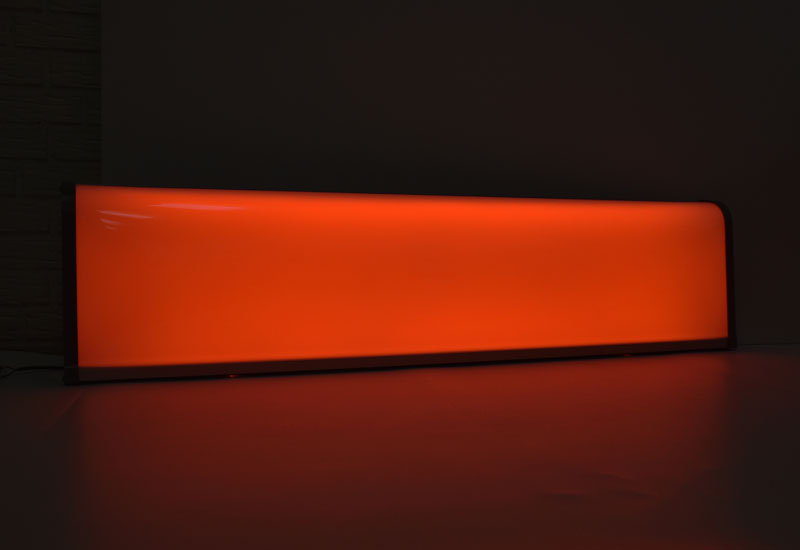 LED armatur - orange lys