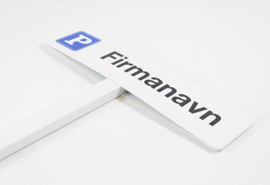 P-skilt med eget firmanavn