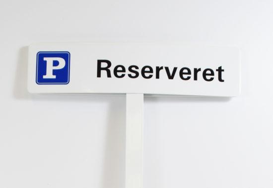 P-skilt er reserveret til