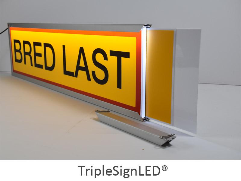 TripleSignLED® - lysskilt til convoy exceptionnel