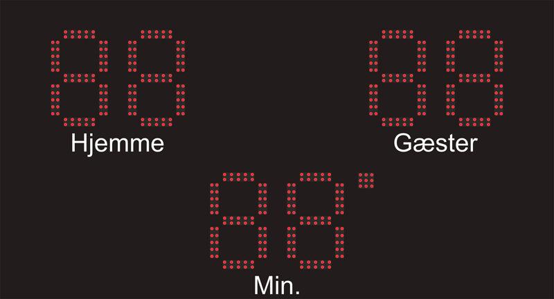 MaxiOne99 resultattavle til fodboldanlæg