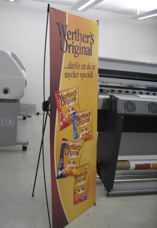 X-banner til messer og udstillinger