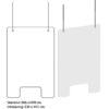 Afskærmningsrude - klar akryl - til kontor og butik