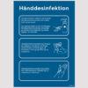 Skilt med vejledning til hånddesinfektion - A4