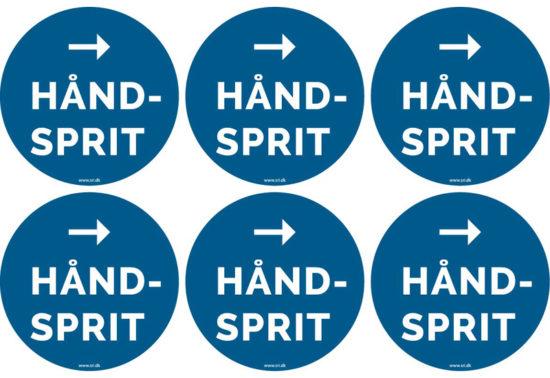 Håndsprit - vis vej - pil til højre