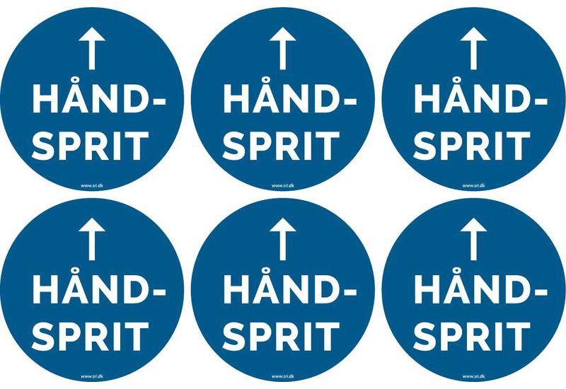 Håndsprit - vis vej - pil op