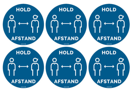 6 stk. hold afstand stickers - SRI