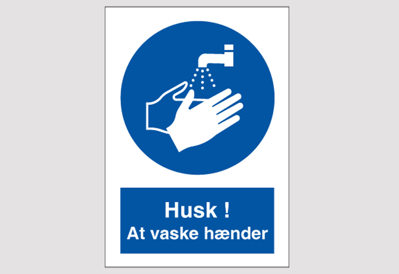 Vask hænder skilt - Corona