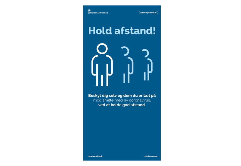 X-Banner display - Hold afstand